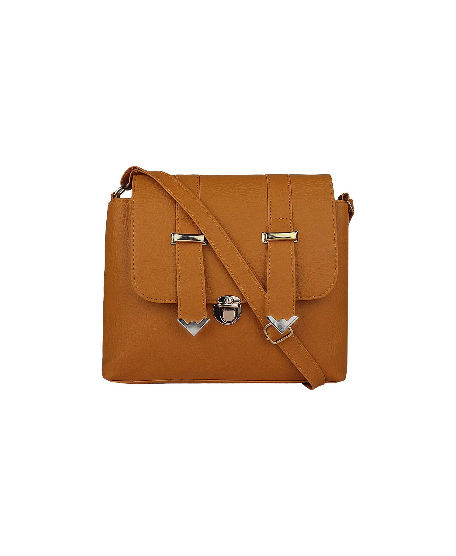 397f132e17 REYAZ JAIBUN Women Casual Tan PU Sling Bag